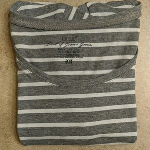 Striped Short Sleeved Crew Neck Shirt